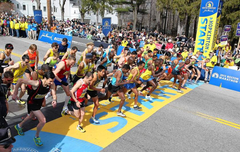 The start of the 2013 Boston Marathon.