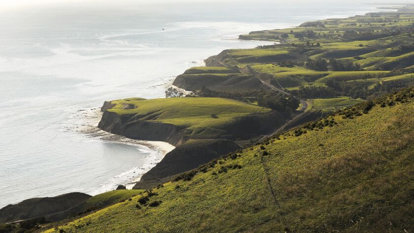 A view of the coastline at Hollister Ranch