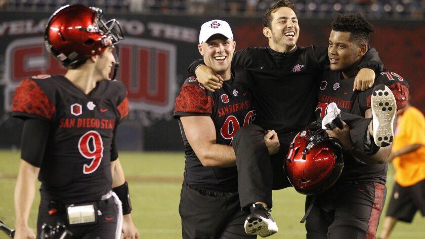 SAN DIEGO, September 8, 2018 | The Aztecs' starting quarterback Christian Chapman, who was injured d