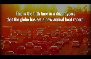 2016 was Earth's third consecutive hottest year on record