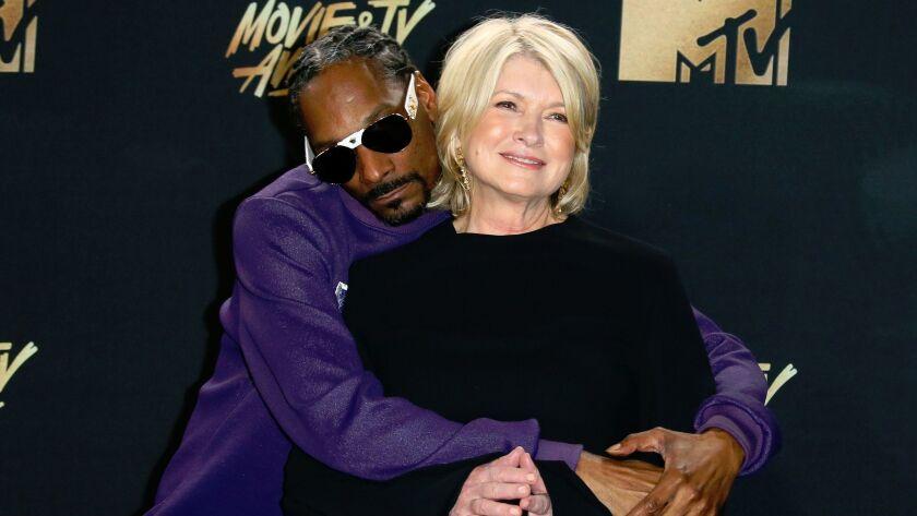 Snoop Dogg and Martha Stewart at the 2017 MTV Movie & TV Awards at the Shrine Auditorium in Los Ang