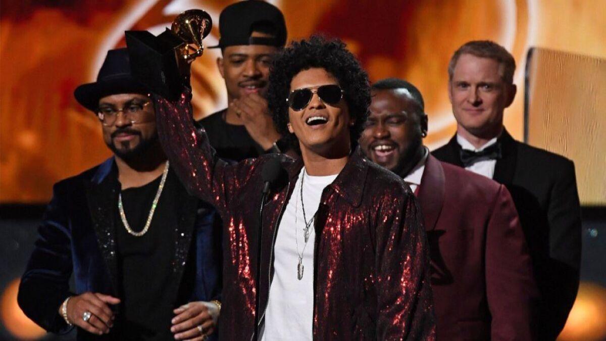 Grammy Awards upset: Bruno Mars wins six trophies, Jay-Z