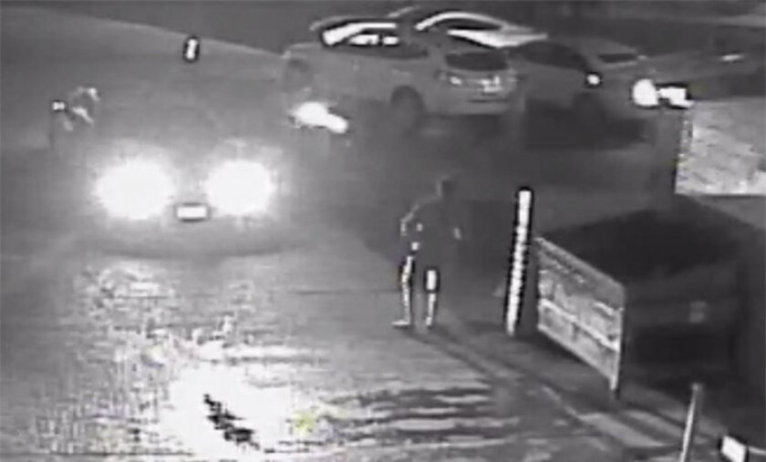 A still frame from surveillance video released by the San Diego District Attorney's Office