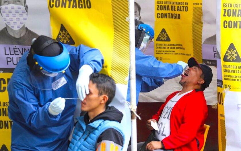 Ciudad de México acumula casi 200.000 casos de los más de 1.078.000 confirmados en todo el país.