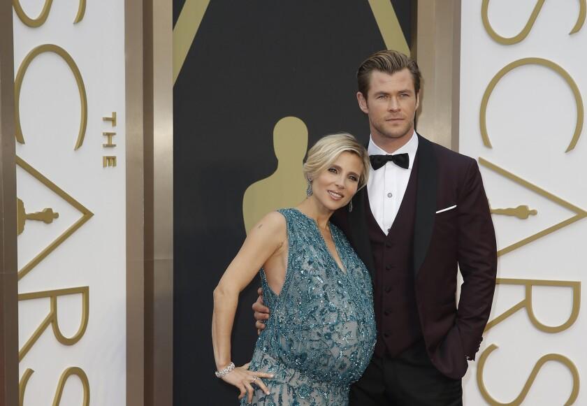 Chris Hemsworth's wife shares their twins' names -- Tristan and Sasha.