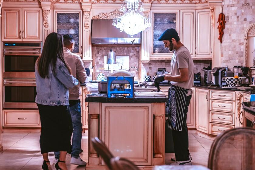 III Mas chef Arthur Grigoryan entertains at his family home.