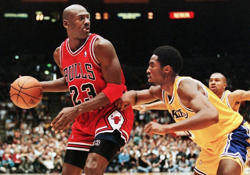 Michael Jordan Kobe Bryant.