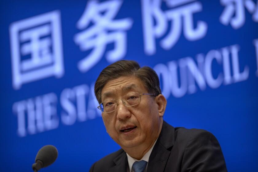 Senior Chinese health official Zeng Yixinin