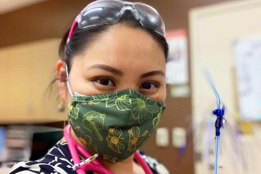 Virus Outbreak Aloha Print Masks