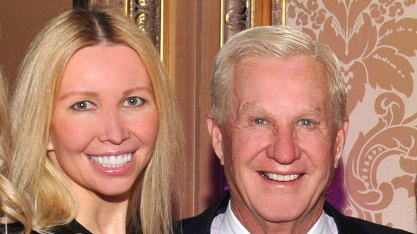 Doug Manchester, on right, with Geniya Manchester. President Donald Trump nominated Doug Manchester to become ambassador to the Bahamas.