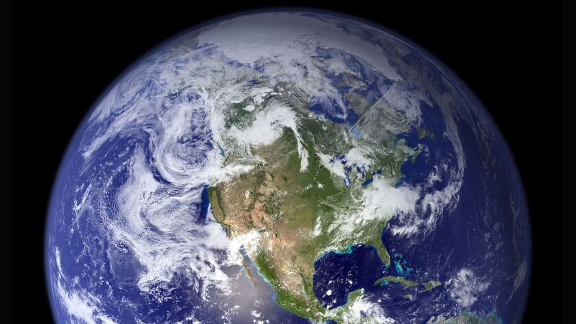 This July 2007 NASA image shows the most detailed true-color image of the Earth to date.