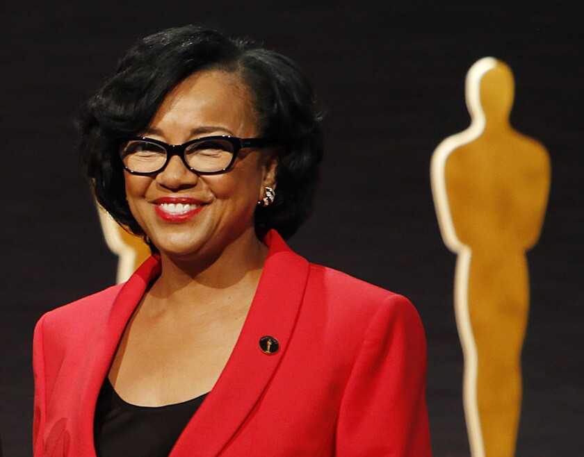 Cheryl Boone Isaacs, president of the Academy of Motion Picture Arts and Sciences, announces the nominations for the Academy Awards from Beverly Hills on Jan. 15, 2015.