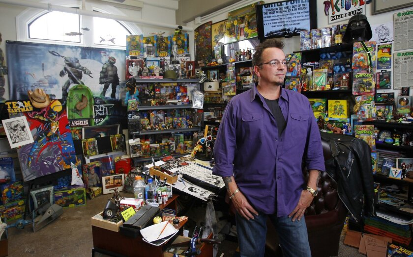 In this file photo, Kevin Eastman, one of the co-creators of the Teenage Mutant Ninja Turtles, is seen in the San Diego Comic Art Gallery at Liberty Station.