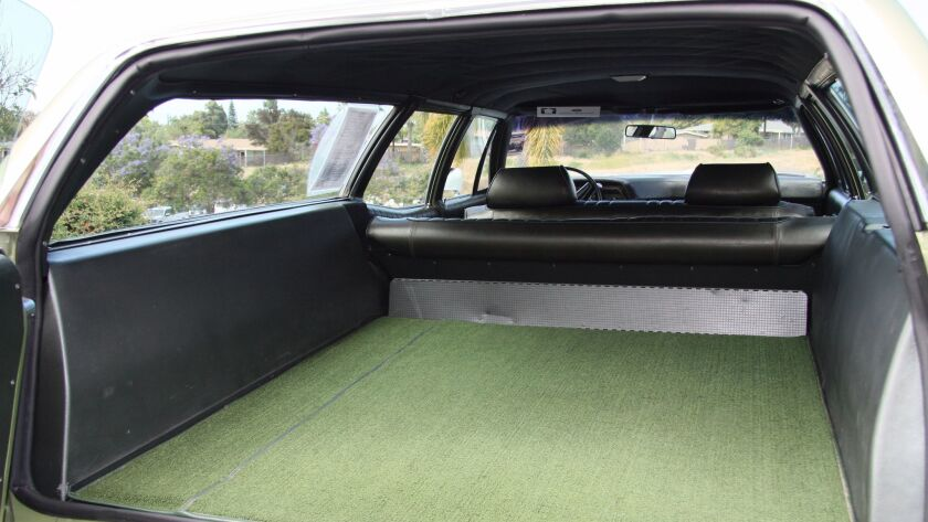 Hopkins opted for the inset storage compartment rather than the third row of seats.