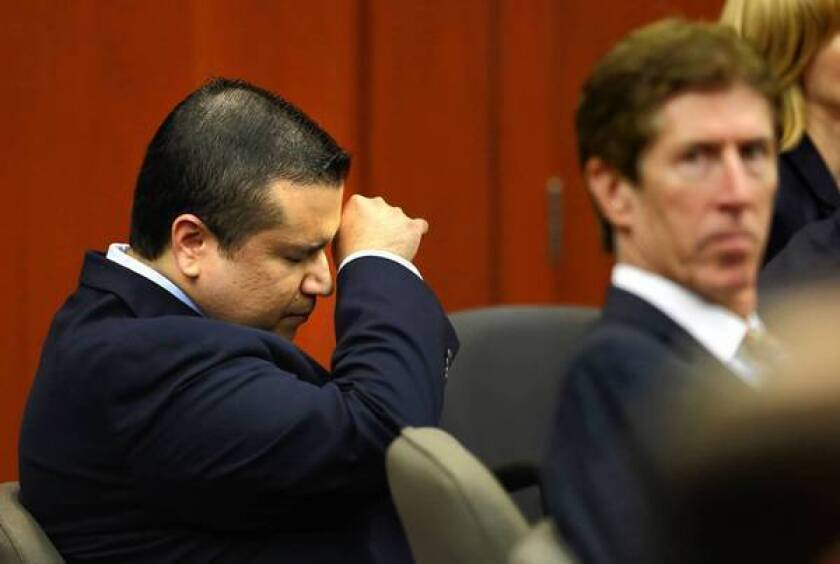 George Zimmerman in court during his trial.