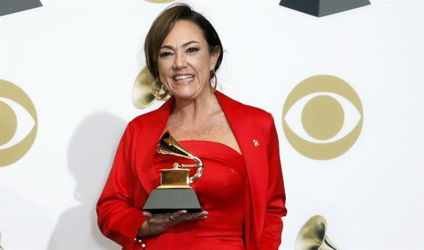 """Claudia Brant se hizo con el galardón al mejor álbum de pop latino, gracias a """"Sincera"""". EFE"""
