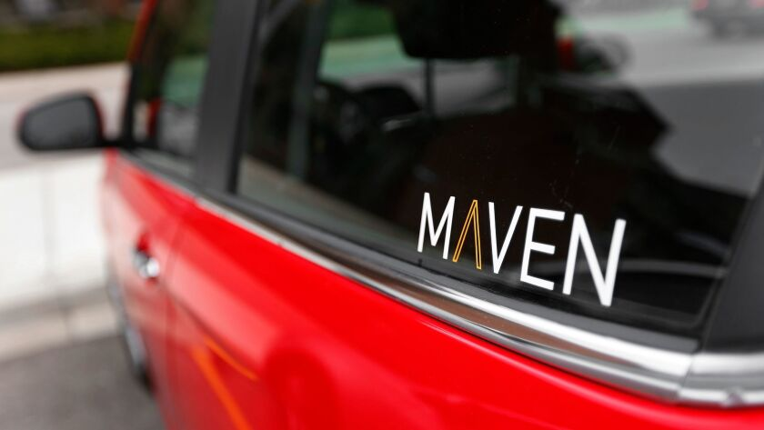 Maven Gig allows Uber and Lyft drivers to rent GM cars on a short-term basis.