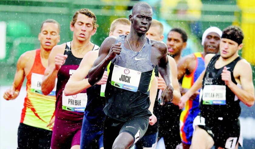 Mission Bay High grad Charles Jock competes in the 800 meters at the U.S. Olympic Trials.