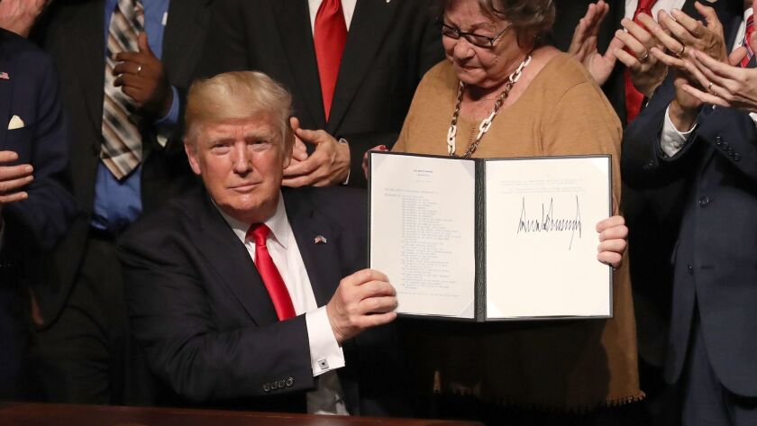 MIAMI, FL - JUNE 16: U.S. President Donald Trump shows the policy changes he is making toward Cuba