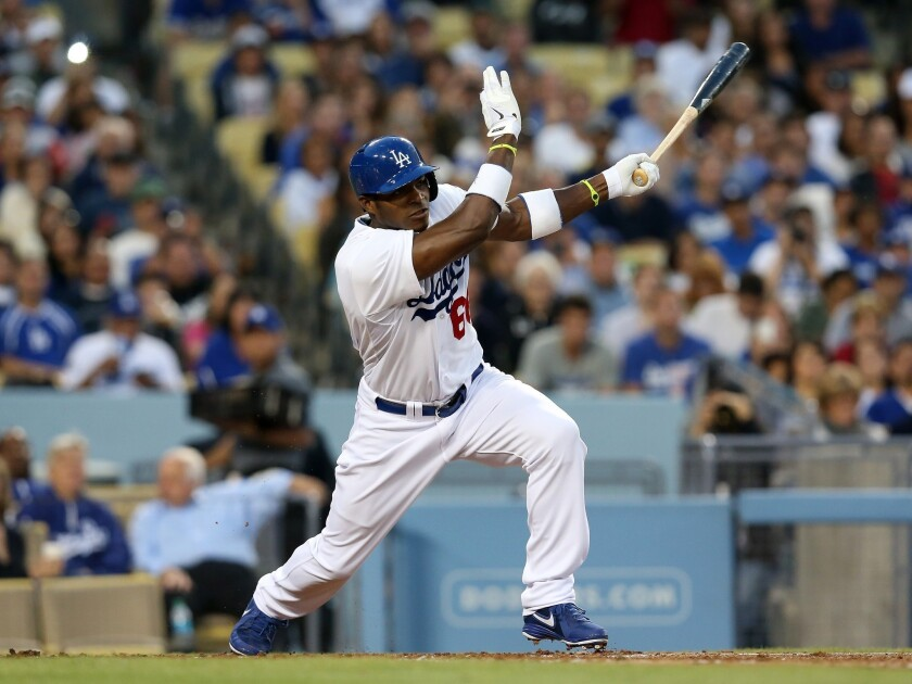 Yasiel Puig batted .464 with four home runs and 10 runs batted in in his first seven games with the Dodgers.