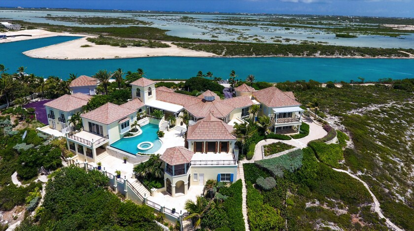Prince's Caribbean estate, a five-acre island compound in Turks and Caicos, is up for auction.