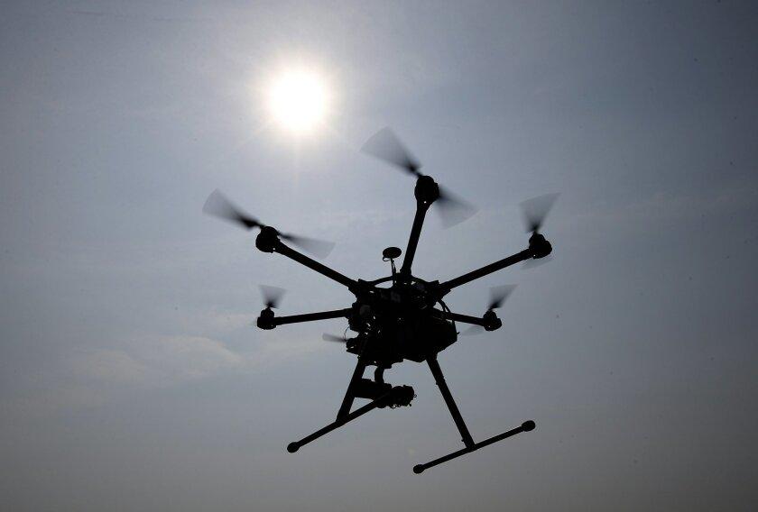 A file photo of an unmanned drone (AP Photo/Alex Brandon)