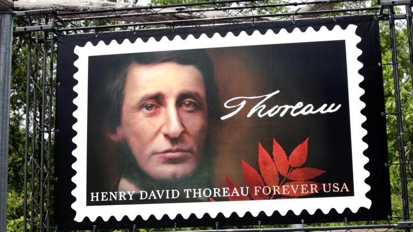 Henry David Thoreau - on a U.S. postal stamp.