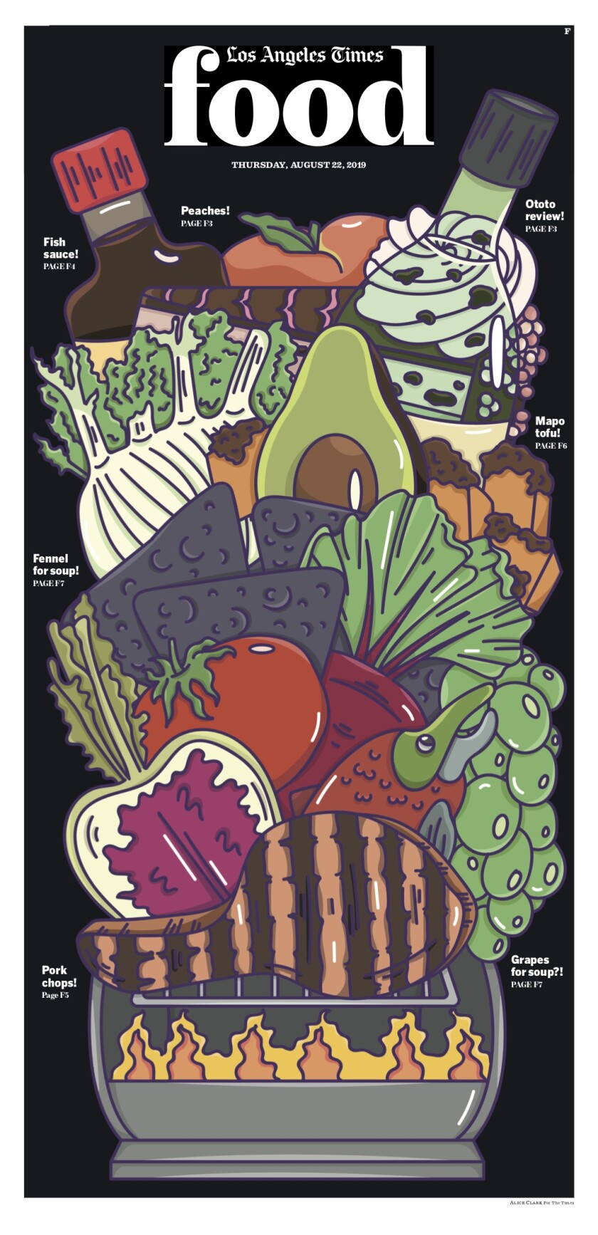 LA Times Food cover August 22