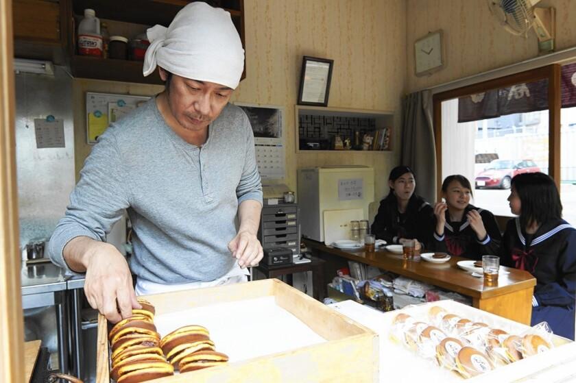 "Masatoshi Nagase as Sentaro in the movie ""Sweet Bean."""