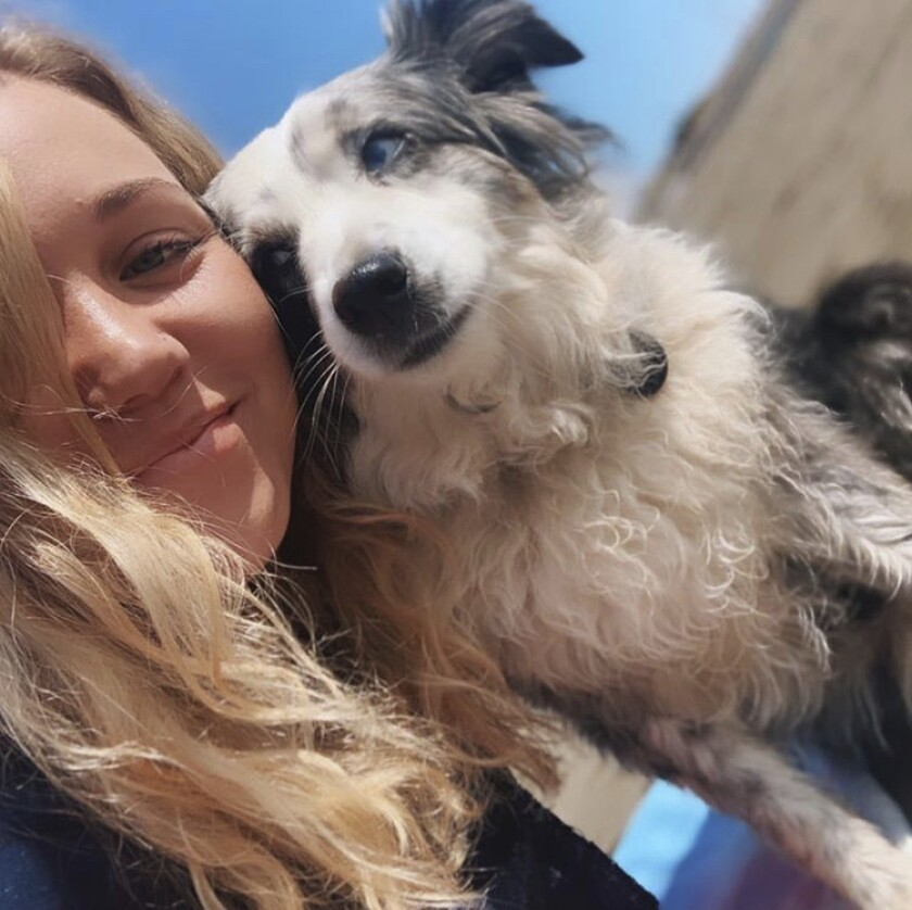 Emilie Talermo and dog Jackson