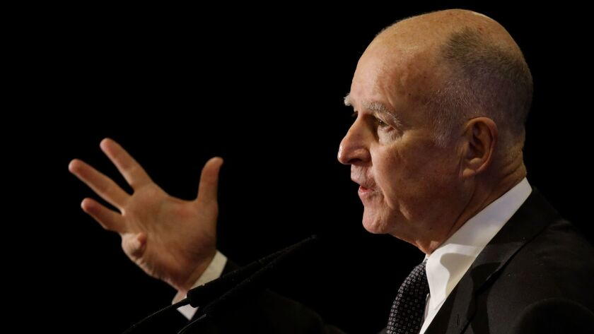 AB 249 is now awaiting action by Gov. Jerry Brown, pictured here in San Francisco on June 1, 2016.