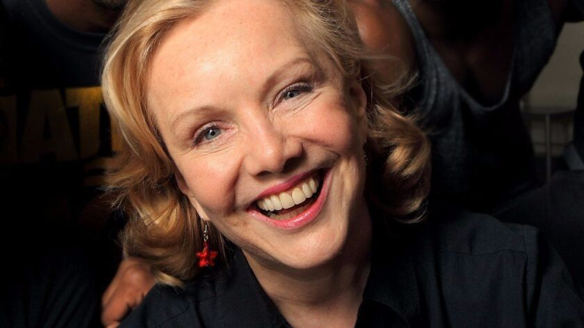 "Susan Stroman in 2012, during a rehearsal break for the musical ""The Scottsboro Boys."""