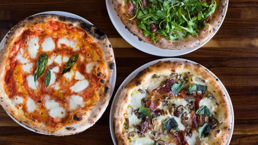 If you can tear yourself away from the pasta, crispy pizza comes hot out of the Neapolitan oven at Isola La Jolla.