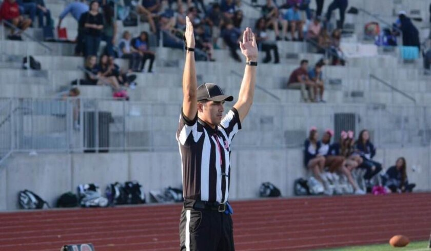 """""""As a former player, that just fills the whole camaraderie, locker-room feel,"""" Moses Moreno said of officiating games. """"That Friday night lights is special for officials, too."""""""