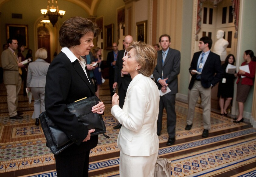 Sen. Dianne Feinstein and Sen. Barbara Boxer