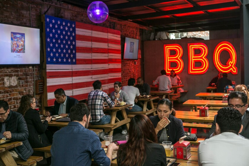 Pinche Gringo is a popular Mexico City barbecue joint whose American owner has made a special effort to hire deportees and other returnees from the U.S.