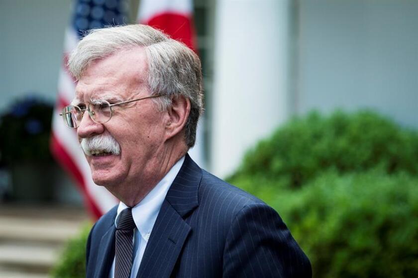 John Bolton, asesor de seguridad nacional de la Casa Blanca negó hoy que Estados Unidos estuviera detrás del presunto ataque con drones durante un acto militar presidido este sábado por mandatario venezolano, Nicolás Maduro. EFE/ARCHIVO