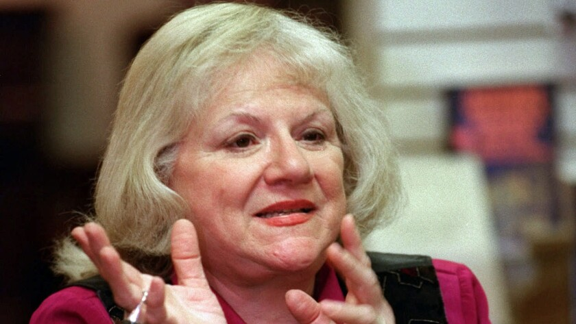 True-crime writer Ann Rule in 1998.