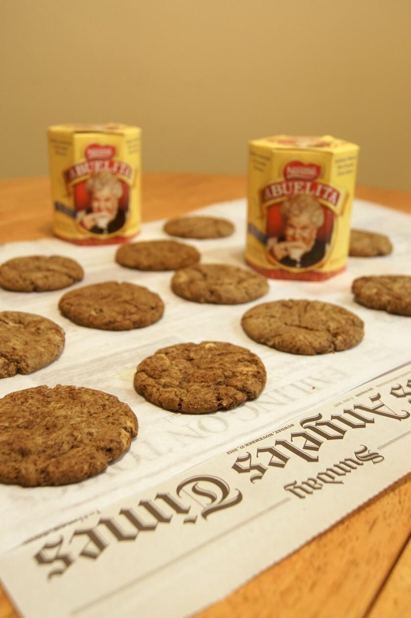 Shown are Abuelita's Chocolate Sugar Cookies from Jon-Michael Hice of Northridge.