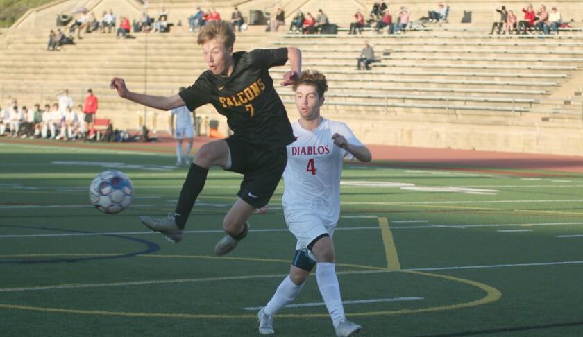 Junior Tye Barton puts in Torrey Pines' third goal.