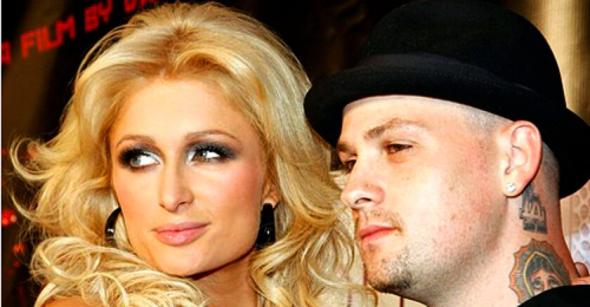 """Paris Hilton and Good Charlotte guitarist Benji Madden recently arrived at a special screening of the Lionsgate film, """"Repo! The Genetic Opera,"""" still looking like quite the couple."""