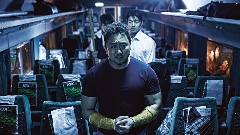 """Ma Dong-seok in the Korean horror movie """"Train To Busan."""""""