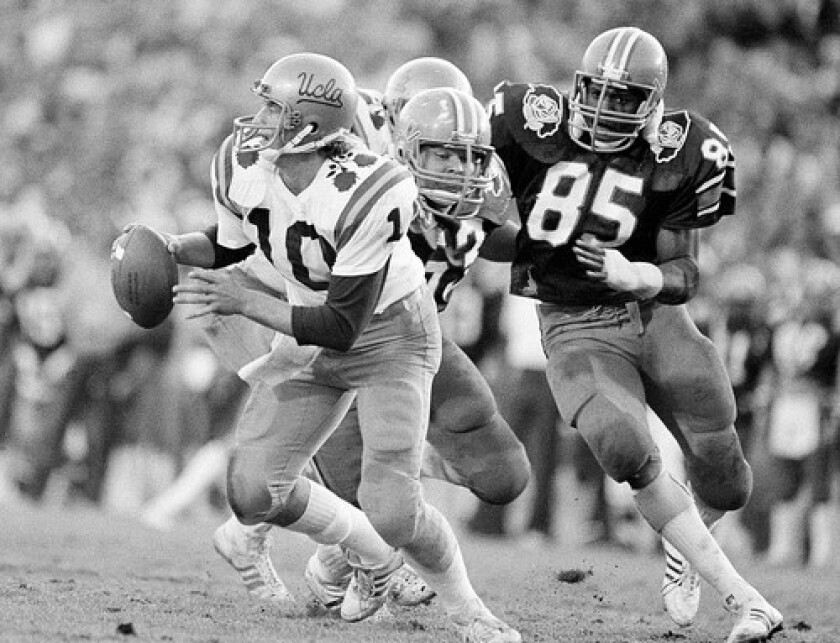 Rick Neuheisel led UCLA to a 45-9 victory over Illinois in the 1984 Rose Bowl.