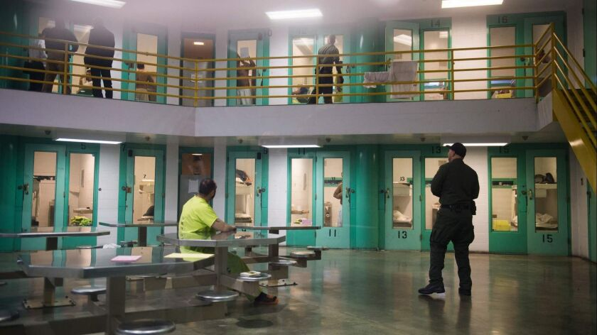 Orange County's Theo Lacy Facility, a county jail that also contracts with the federal government to hold migrants facing deportation hearings.