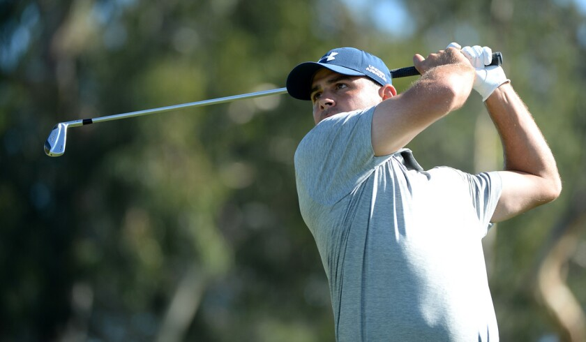 Gary Woodland and K.J. Choi share lead at Torrey Pines, with Dustin Johnson right behind