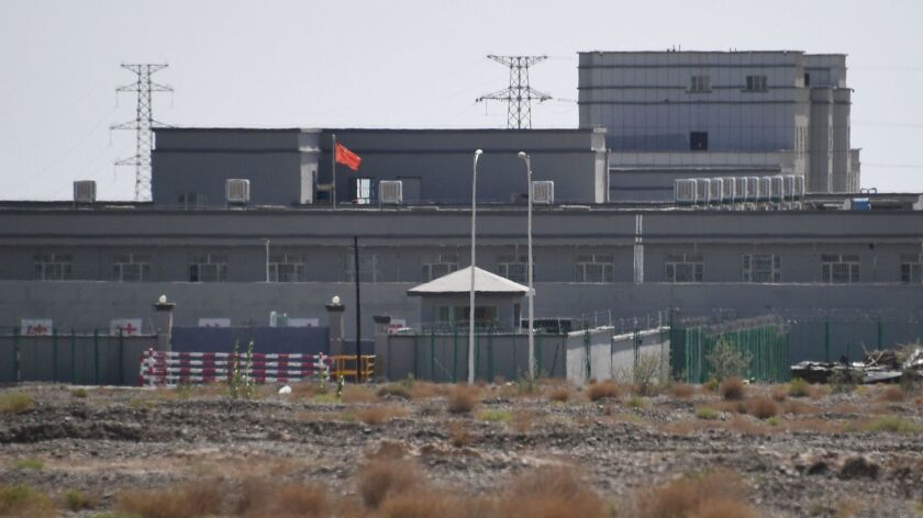 A facility believed to be a reeducation camp, where mostly Muslim ethnic minorities are detained, in China's western Xinjiang region.