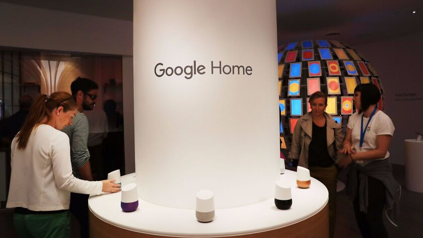 NEW YORK, NY -People visit the new Google pop-up shop in the SoHo neighborhood on October 20, 2016 in New York City.