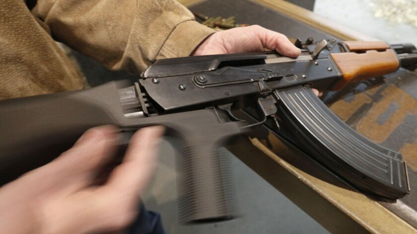 Semi-Automatic Rifles Equipped With Bump Stocks Used At Gun Range