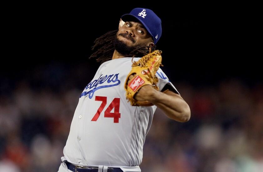 Dodgers closer Kenley Jansen was sharp in Sunday's 3-2 win over the New York Mets.