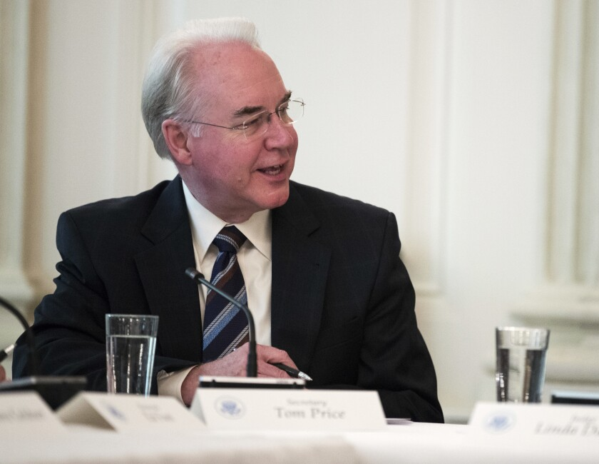 Secretary of Health and Human Services Tom Price voted twice against expanding CHIP as a Georgia state legislator.